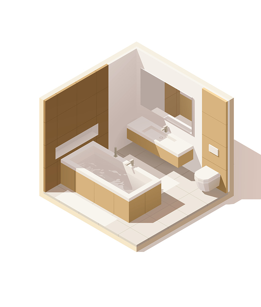 Vagus Haustechnik - Badezimmer (isometrische Ansicht)