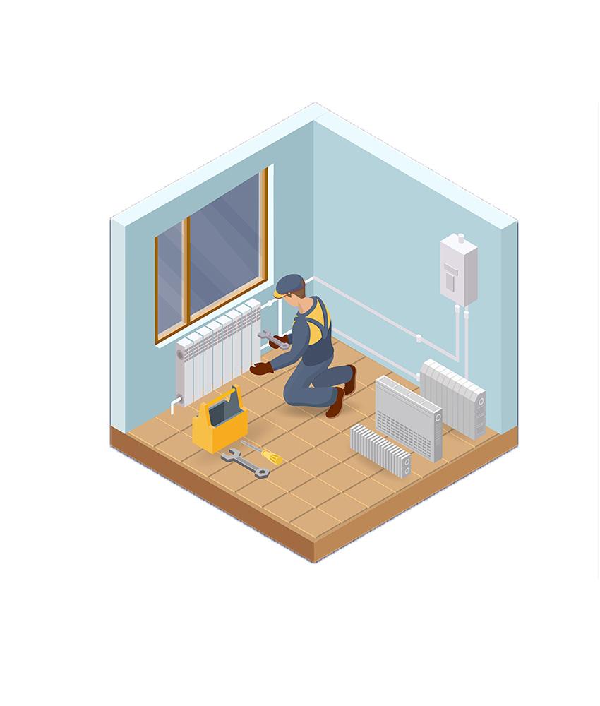 Vagus Haustechnik - Heizung Installation (isometrische Ansicht)
